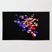 patriotic Area & Throw Rugs featuring patriotic jigsaw by Albin0