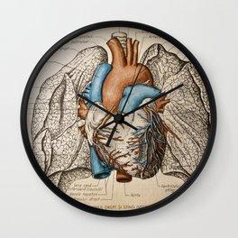 Vintage anatomy illustration Wall Clock