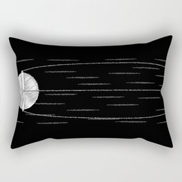 Sputnik Chalk Drawing Rectangular Pillow