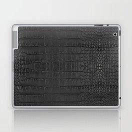 Alligator Black Leather Laptop & iPad Skin
