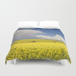 Yellow Canola fields - Landscape Photography #Society6 Duvet Cover