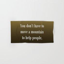 Move a Mountain Hand & Bath Towel