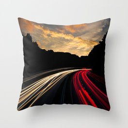 Highway to Adventure Throw Pillow