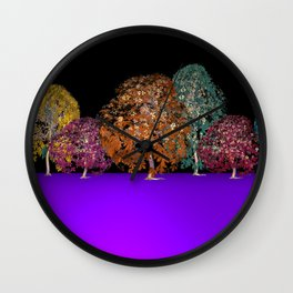 colors and trees Wall Clock