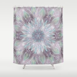 Lavender swirl pattern Shower Curtain