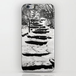 Snowy Stairs iPhone Skin