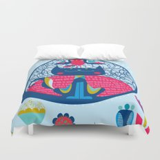 HUNGRY CAT & LITTLE BIRDIE Duvet Cover