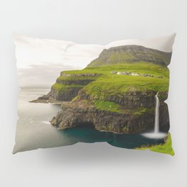Gasadalur Waterfall in Faroe Islands Pillow Sham