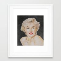 monroe Framed Art Prints featuring Monroe by Kaileigh Gagnon