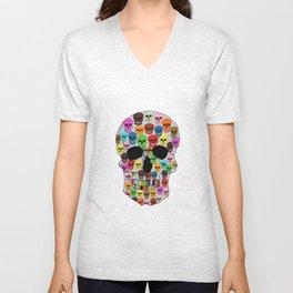 colorfull skull Unisex V-Neck