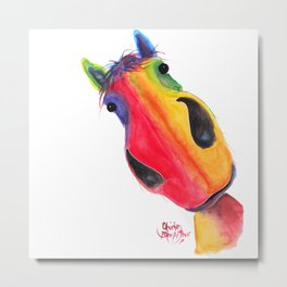 Happy Horse ' AppLETiNi ' by Shirley MacArthur Metal Print