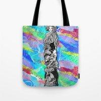 art nouveau Tote Bags featuring nouveau by manje