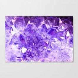 Purple Crystals Canvas Print