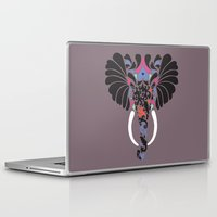 asian Laptop & iPad Skins featuring Asian Elephant by Paula McGloin