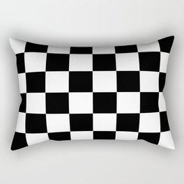 Black & White Checkered Pattern Rectangular Pillow