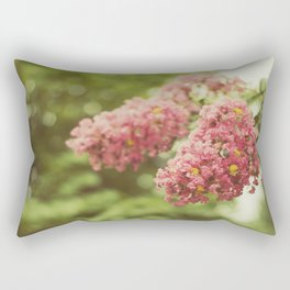 """""""Flowers are restful to look at. They have neither emotions nor conflicts. """" Rectangular Pillow"""