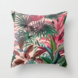 Tropical Garden XV Throw Pillow