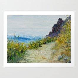 Path to lovers cove Art Print