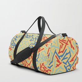 JUST A BUNCH OF LINES - THREE COLORS Duffle Bag