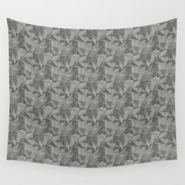 Abstract Geometrical Triangle Patterns 2 Benjamin Moore 2019 Trending Color Kendall Charcoal Gray HC Wall Tapestry