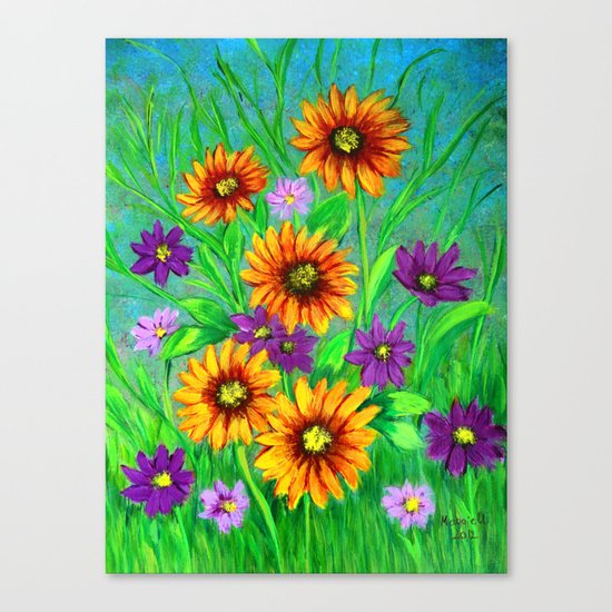 Flowers in my garden  Canvas Print