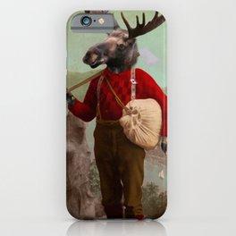 Lumberjack Marvin Moose iPhone Case