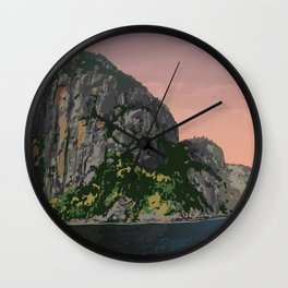 Parc National du Fjord-du-Saguenay Wall Clock