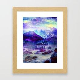 Abstract Winter Lake Framed Art Print