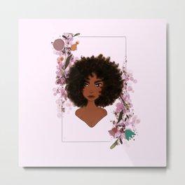 Fros & Flowers: Tereza- Afro Girls  Metal Print