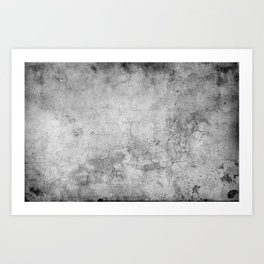 Concrete Cement Art Print