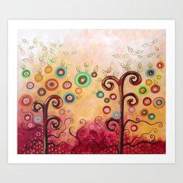 Bliss en grana Art Print