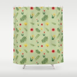 Countryside ferns Shower Curtain