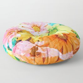 Simone #painting #floral Floor Pillow