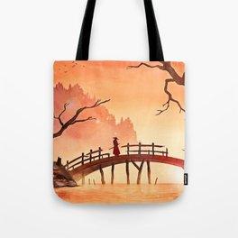 Samurai Scene, Bushido Ronin Tote Bag