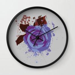 Splatter Rose Wall Clock