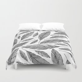 Float Like A Feather - White Duvet Cover