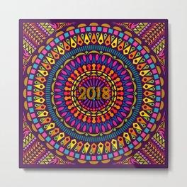 2018 Mandala #1 – Notebooks & more Metal Print
