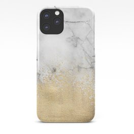 Gold Dust on Marble iPhone Case