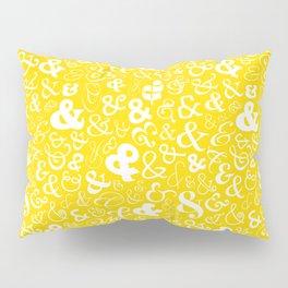 Ampersands - Yellow Pillow Sham