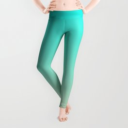 Bright Turquoise and Angelskin Tropical Paradise Seychelles Island Beach Leggings
