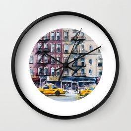 New York, wtercolor sketch Wall Clock