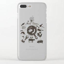Meat Lovers Clear iPhone Case