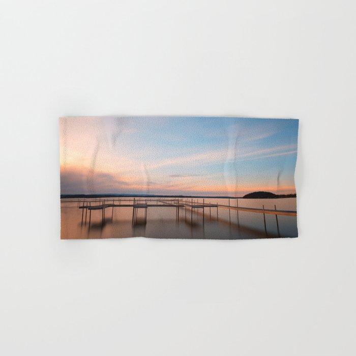 Saratoga Lake Sunset Hand & Bath Towel