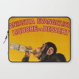 Vintage Anisette Liquor Italian Drinking 'Drunken Monkey' Aperitif Advertisement Poster Laptop Sleeve