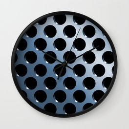 Cool Steel Graphic Art Like Polka Dots Wall Clock