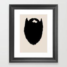 Fake Beard Framed Art Print