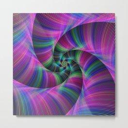 Spiral tentacles Metal Print
