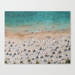 Afternoon On Waikiki Beach Canvas Print