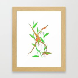 Mountain Lady Slipper Orchid Botanical Art Print Framed Art Print