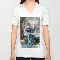 aquarius V-neck T-shirts featuring Aquarius by Paula Ellenberger